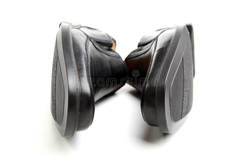 Paar zwarte man schoenen stock fotografie