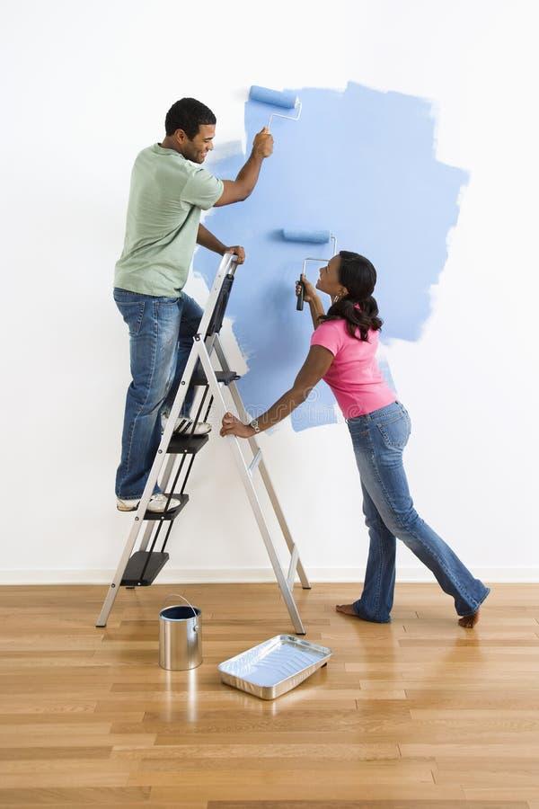 Paaranstrich-Wandblau. stockbilder
