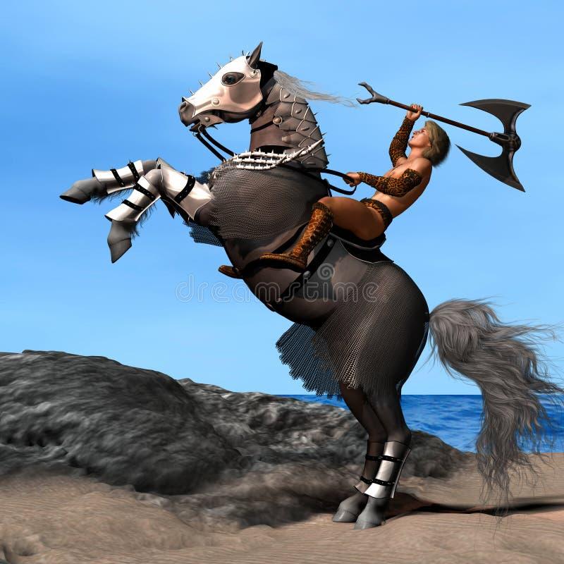 Paard 01 van de oorlog stock illustratie
