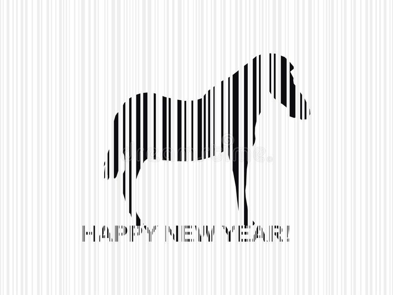 Paard 2014 royalty-vrije illustratie
