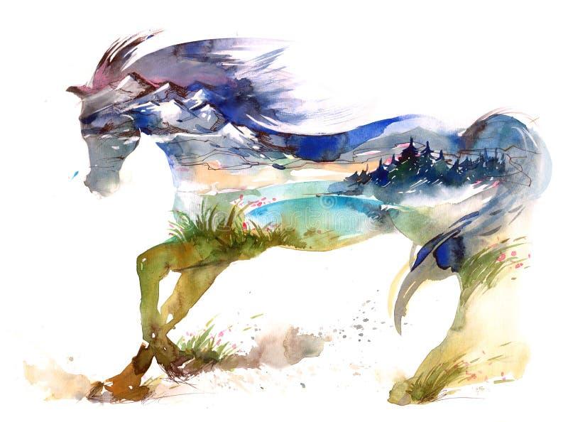 Paard stock illustratie