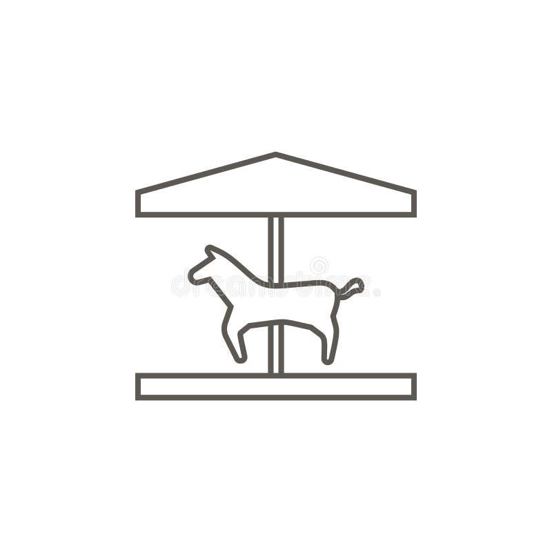 Paard, carrousel vectorpictogram E Paard, carrousel vectorpictogram De huizen van onroerende goederen?, Vlakten voor verkoop of v royalty-vrije illustratie