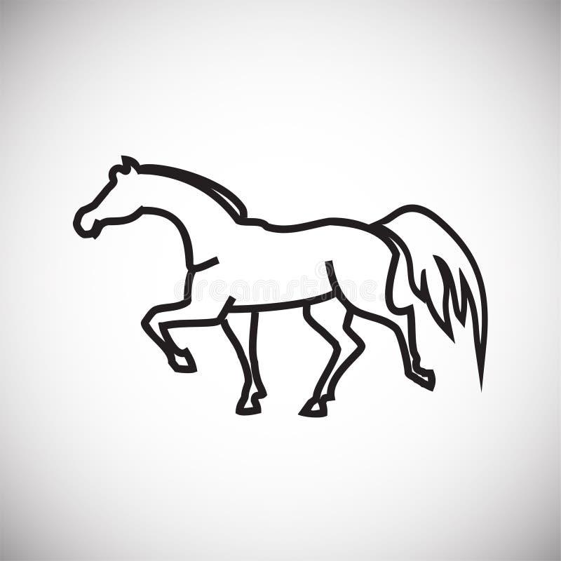 Paard dunne lijn op witte achtergrond royalty-vrije illustratie