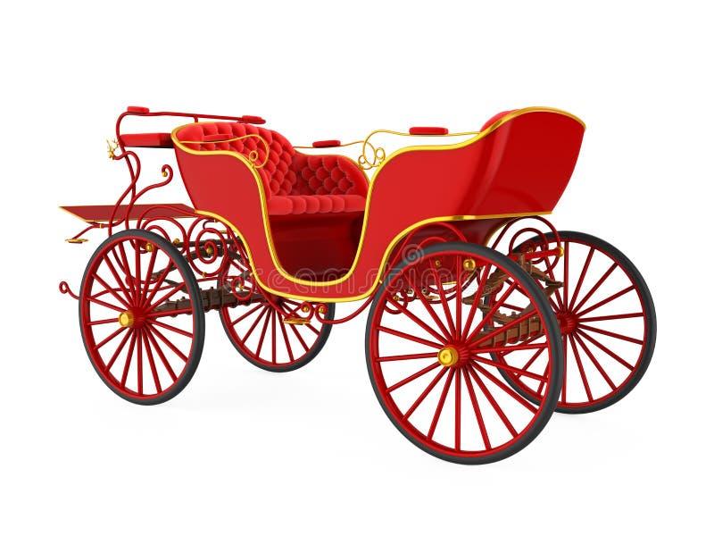 Paard Getrokken Geïsoleerd Vervoer stock illustratie
