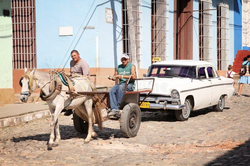 Paard getrokken kar in Cuba royalty-vrije stock fotografie