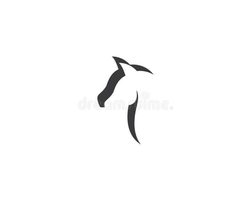 Paard Logo Template royalty-vrije illustratie