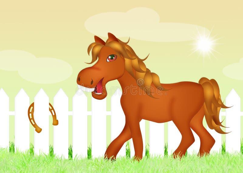 Paard met hoeven royalty-vrije illustratie