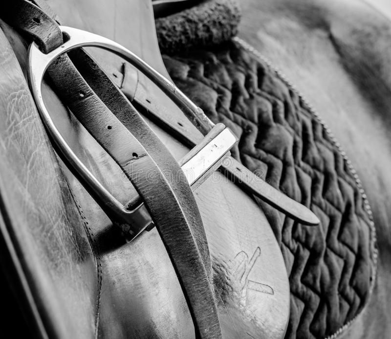 Paard - paardenzadel royalty-vrije stock foto