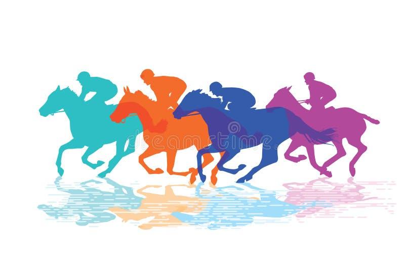 Paard Racing royalty-vrije illustratie