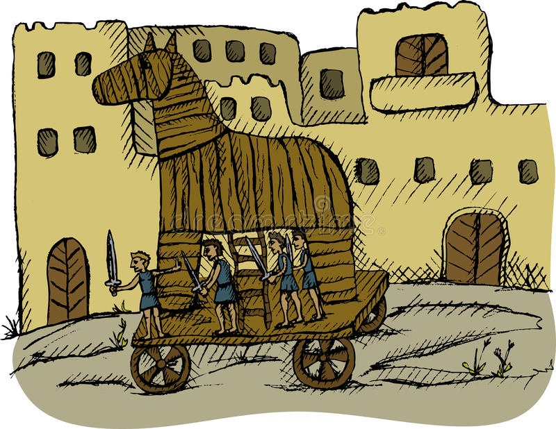 Paard van Troje stock fotografie