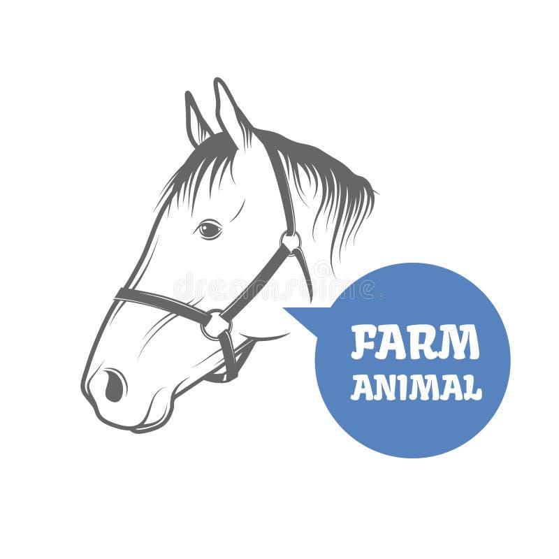 Paard vectorhoofd stock illustratie