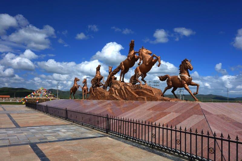 Paardbeeldhouwwerk stock foto