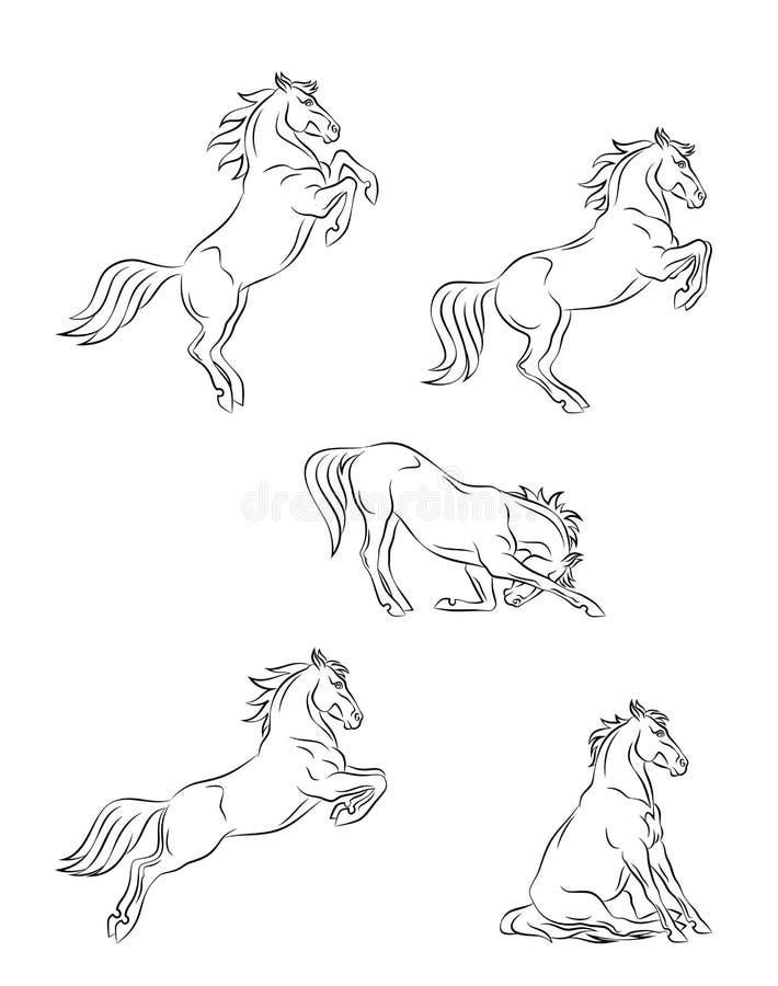 Paarddressuur stock illustratie