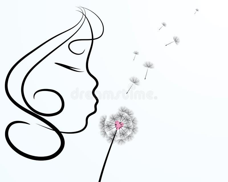 Paardebloem royalty-vrije illustratie