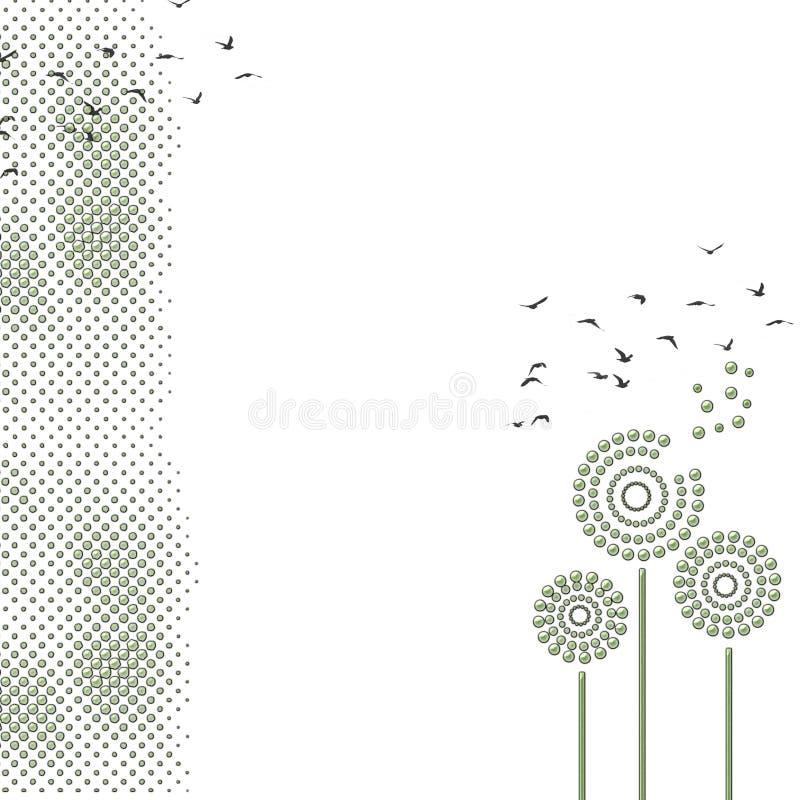 Paardebloem vector illustratie