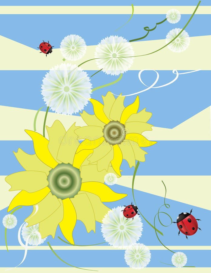paardebloemen stock illustratie