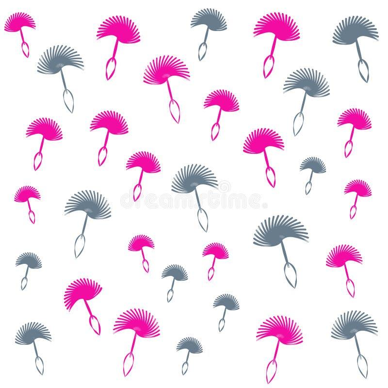 Paardebloemzaden op zwarte achtergrond Vector illustratie stock illustratie