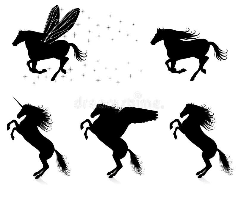 Paarden. stock illustratie