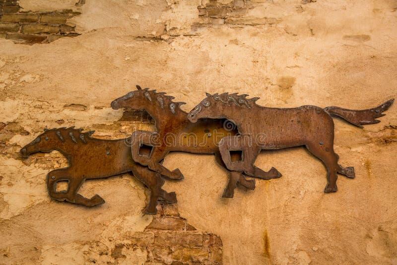 Paarden het lopen royalty-vrije stock afbeelding