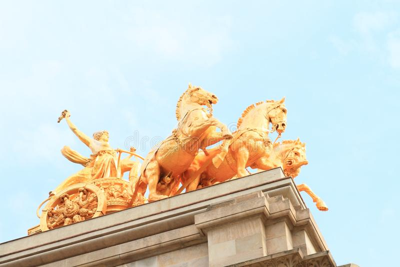 Paarden van Cascada Monumentaal in Barcelona royalty-vrije stock foto