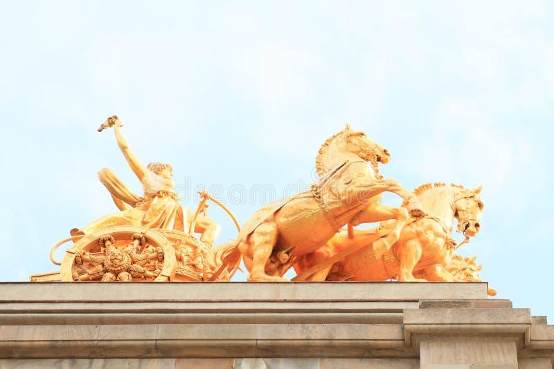 Paarden van Cascada Monumentaal in Barcelona royalty-vrije stock afbeelding