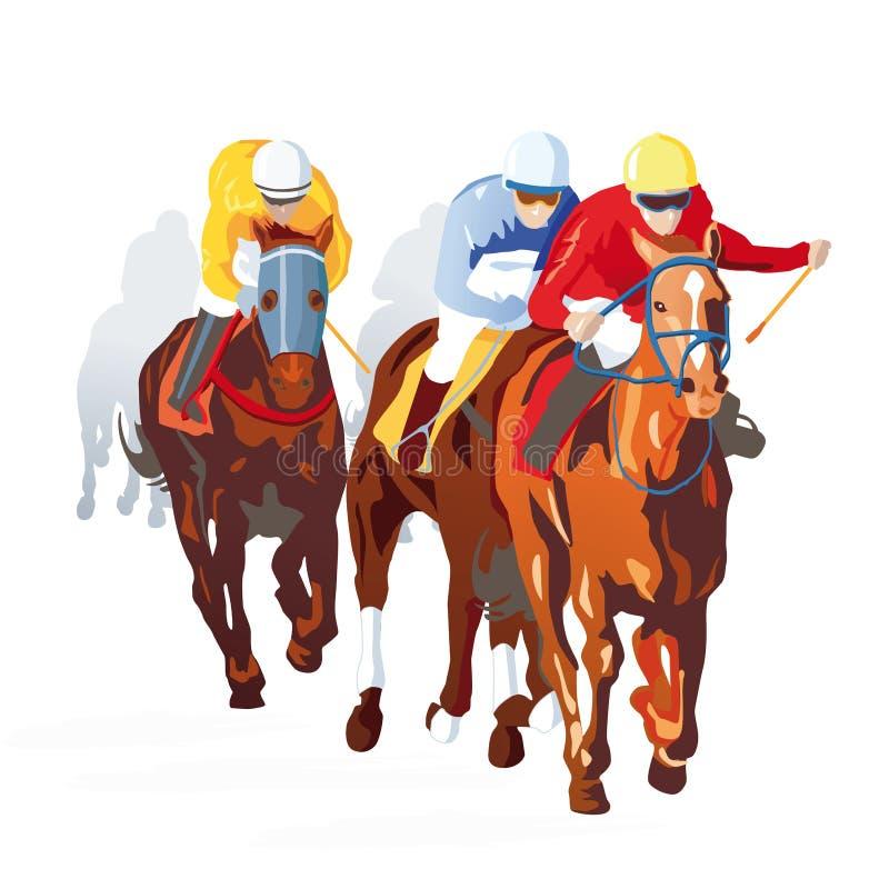 Paardenkoers royalty-vrije illustratie