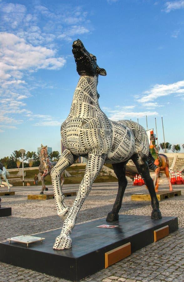 Paardenstandbeeld stock foto