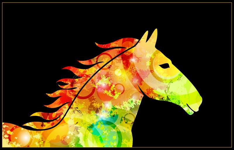Paardillustratie royalty-vrije illustratie