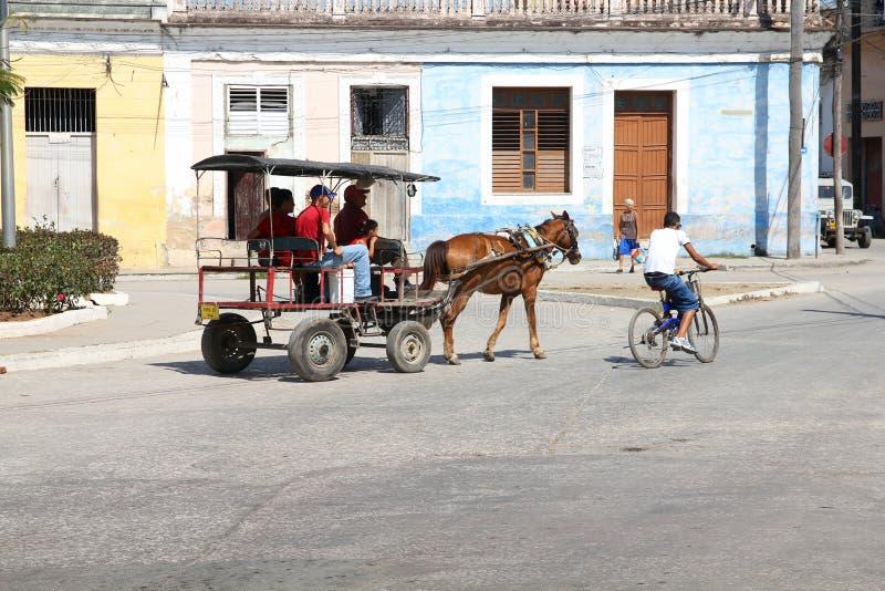 Paardkar, Cuba stock foto's