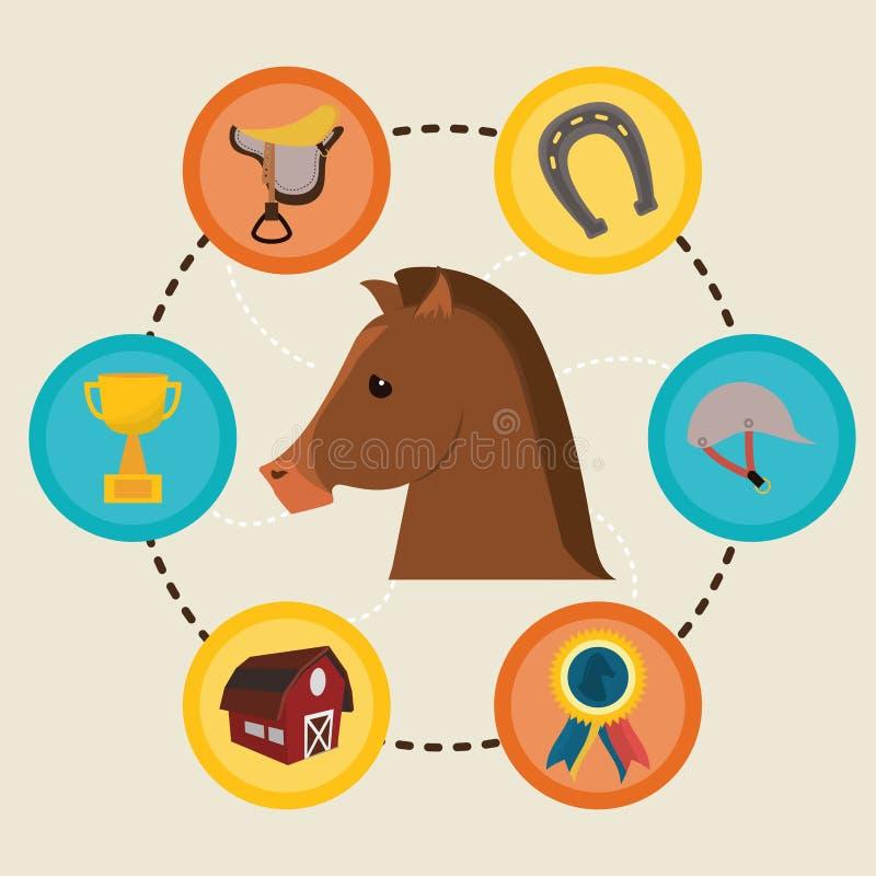 Paardontwerp stock illustratie