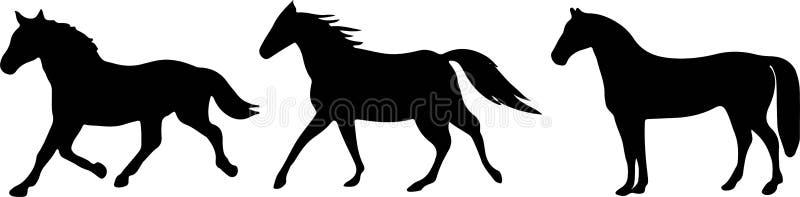 Paardpictogram op witte achtergrond vector illustratie