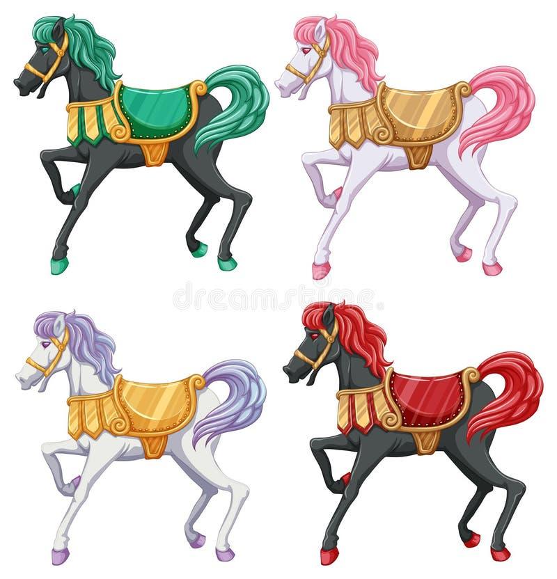 Paardritten vector illustratie