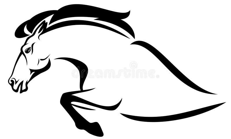 Paardsprong royalty-vrije illustratie