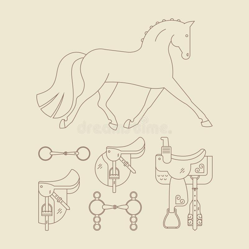 Paardtoestel vector illustratie