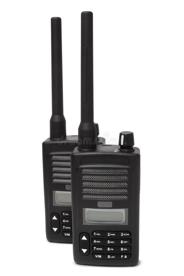 Paare Übermittler des portablen Radios lizenzfreies stockfoto