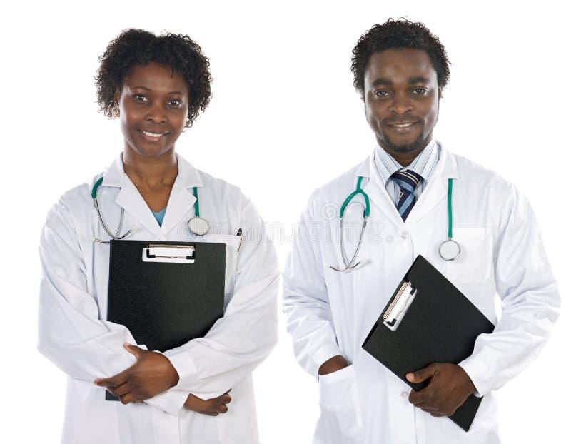 Paare der Afroamerikanerdoktoren lizenzfreies stockfoto