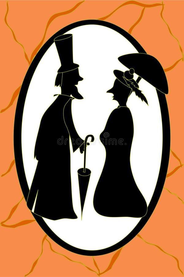 Download Paare der alten Leute vektor abbildung. Illustration von mann - 9093372