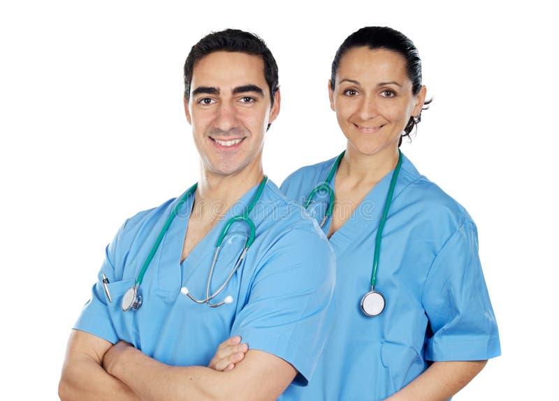 Paare der Doktoren stockfoto