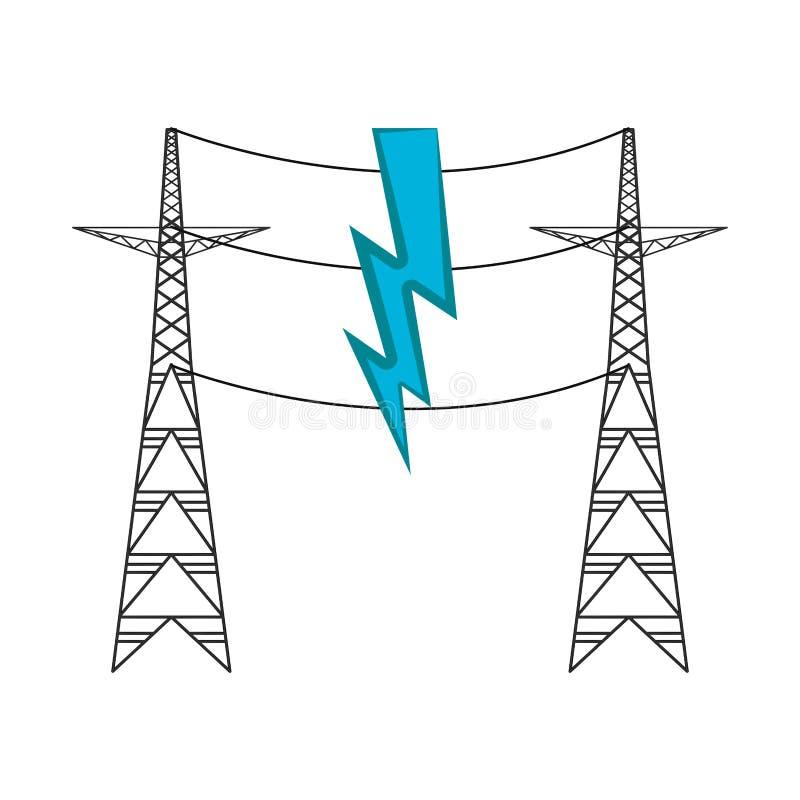 Paare der elektrischen Türme vektor abbildung