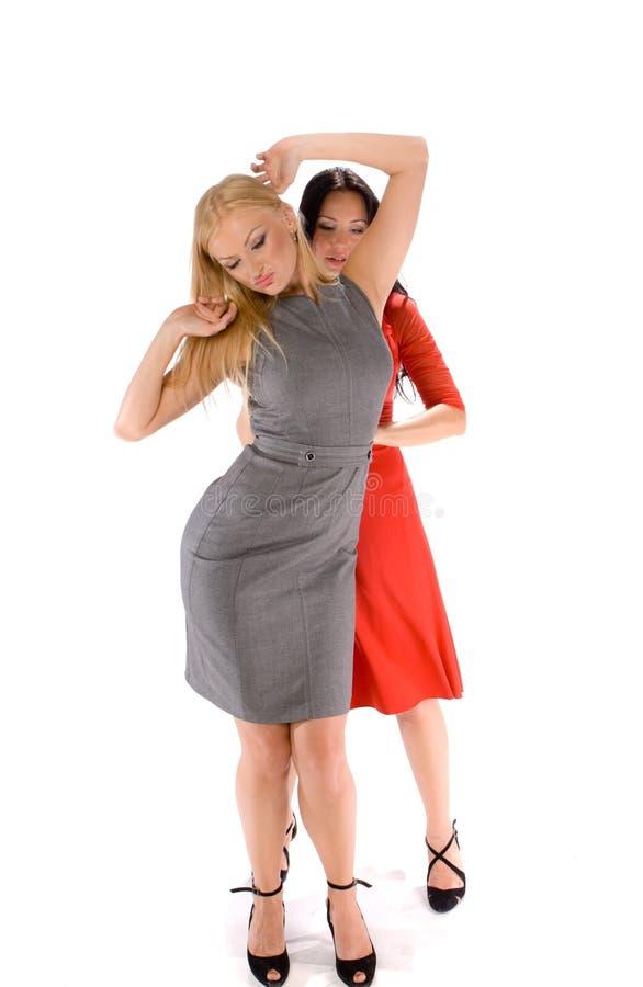 Paare der heißen Damen lizenzfreie stockbilder