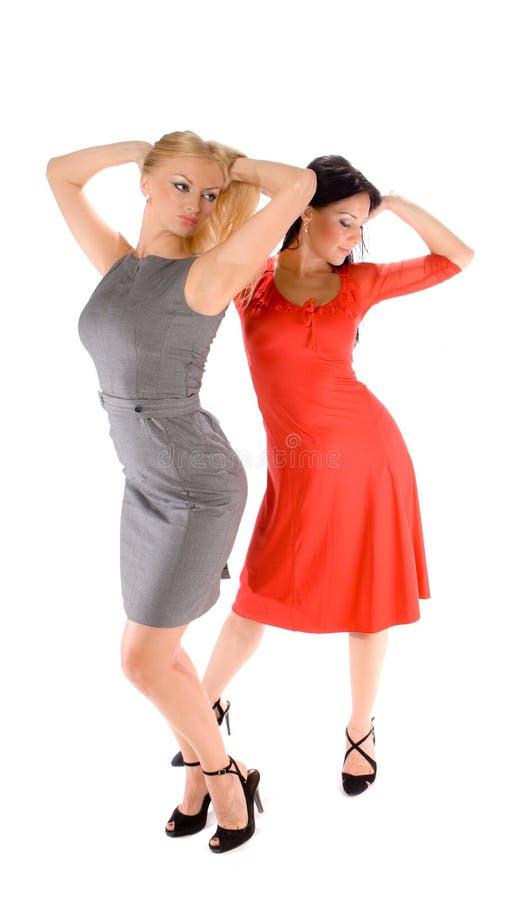 Paare der heißen Damen stockbilder