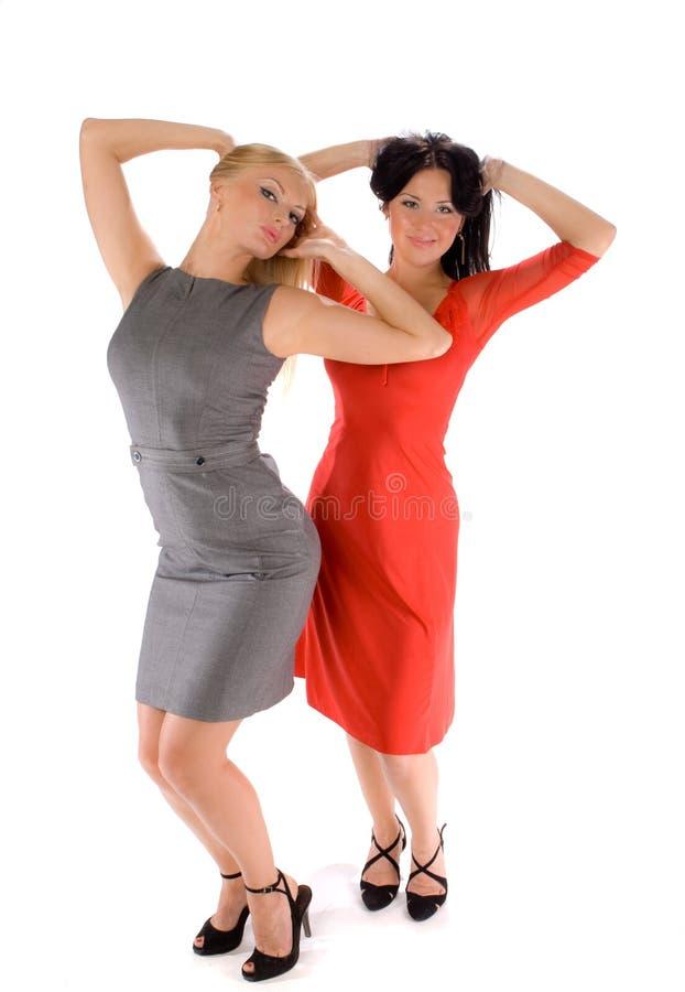 Paare der heißen Damen lizenzfreie stockfotografie