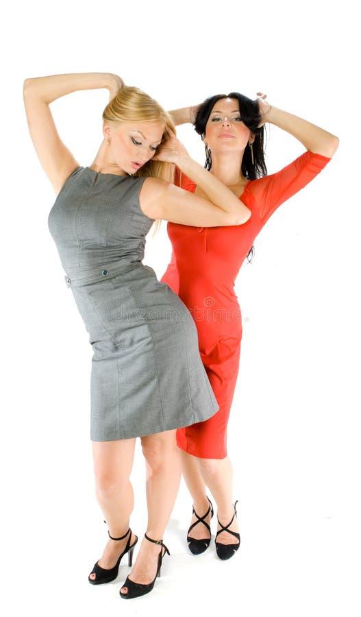 Paare der heißen Damen stockfoto