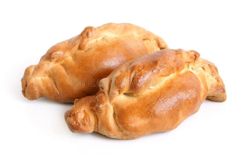Paare der heißen Pastetchen vom Weizenmehl stockfotografie