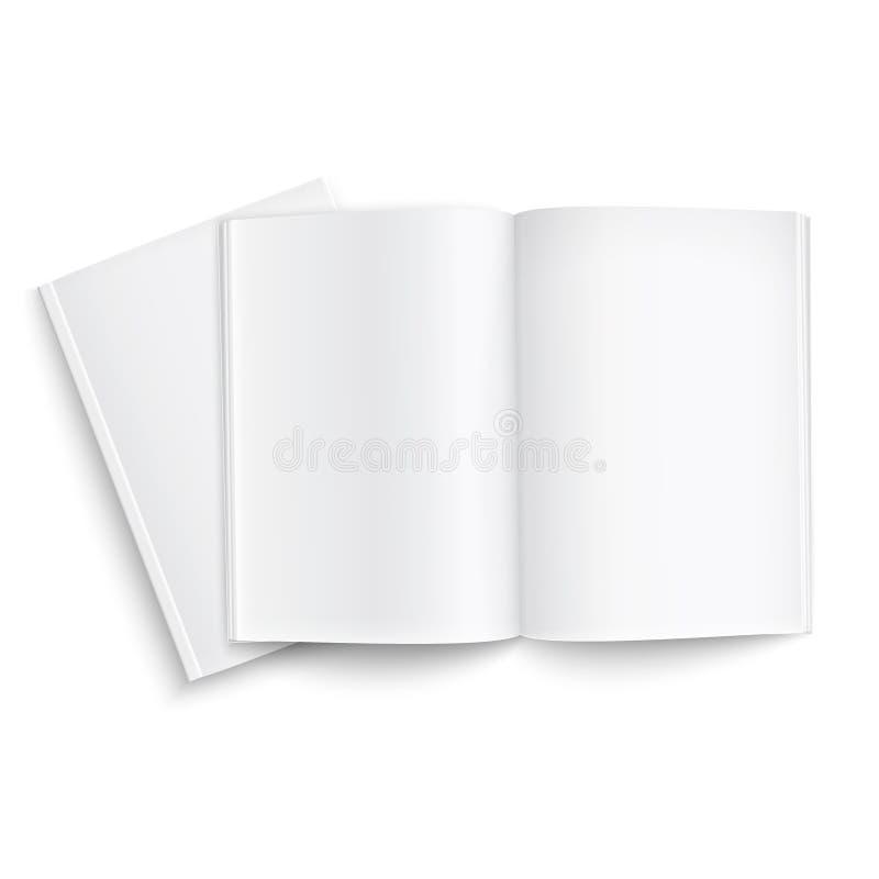 Paare der leeren Zeitschriftenschablone. stock abbildung