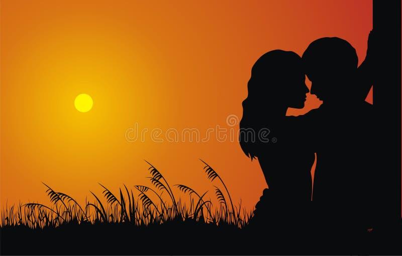 Paare in der Liebe stock abbildung