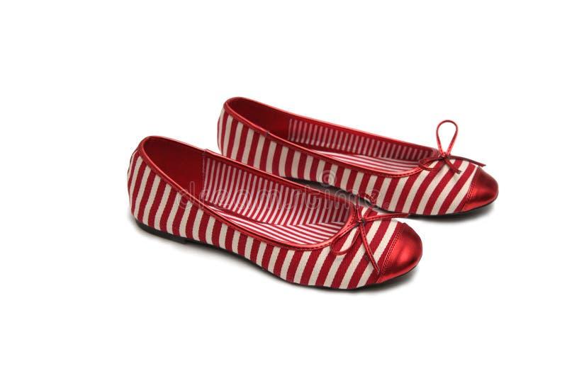 Paare der roten Schuhe stockfoto