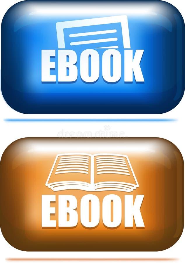 Paare des ebook Ikonenknopfes stock abbildung