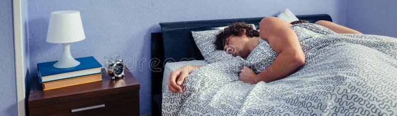 Paare, die auf ihren Rückseiten schlafen lizenzfreies stockbild