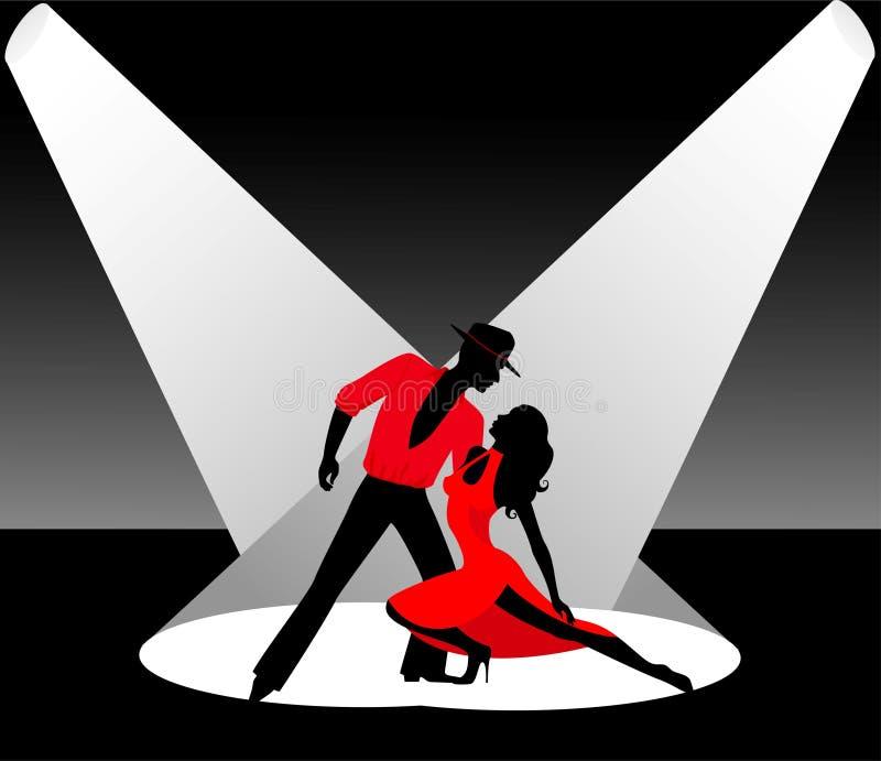 Paare, die einen Tango tanzen stock abbildung